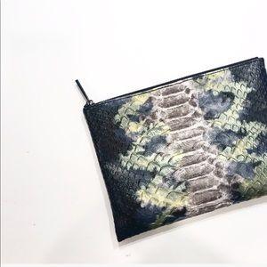 Deux Lux Embossed Faux Crocodile print bag/clutch
